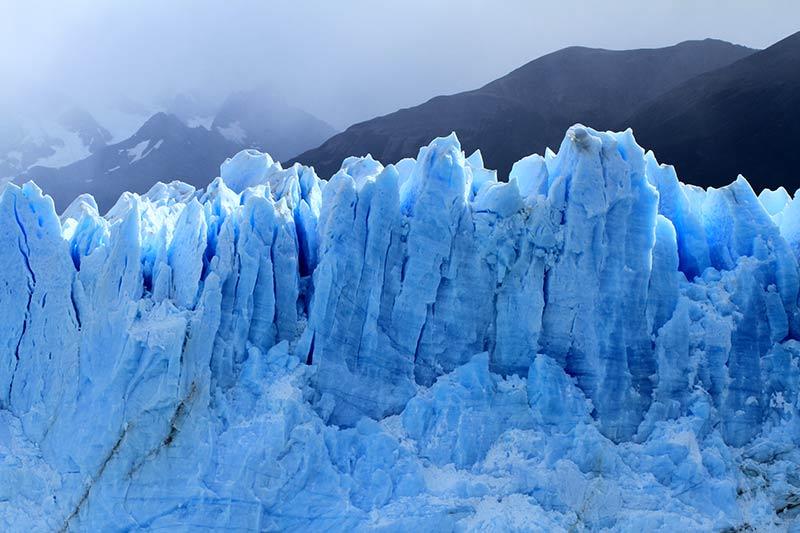 Perito Moreno reflets bleus