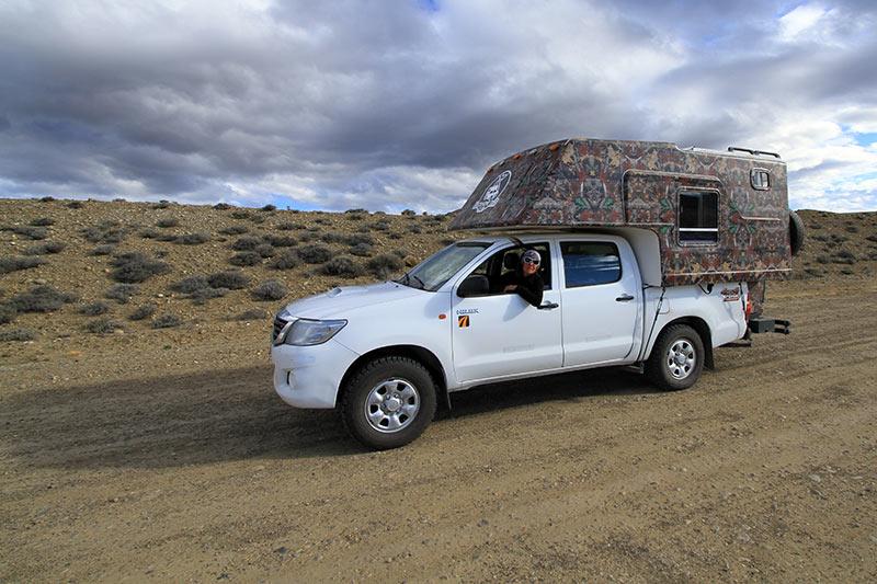 Conduite sur piste en Patagonie