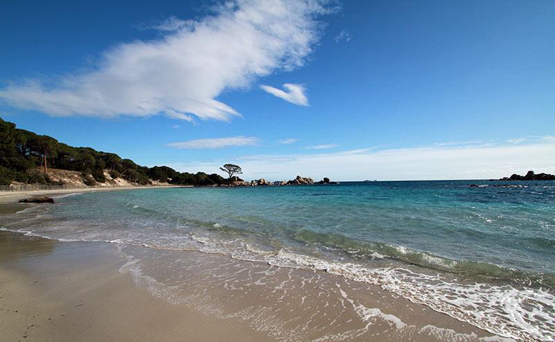 plage de Corse en hiver Tamarucciu