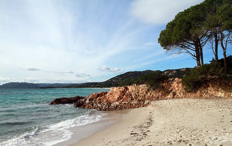 plage Palombaggia corse hiver