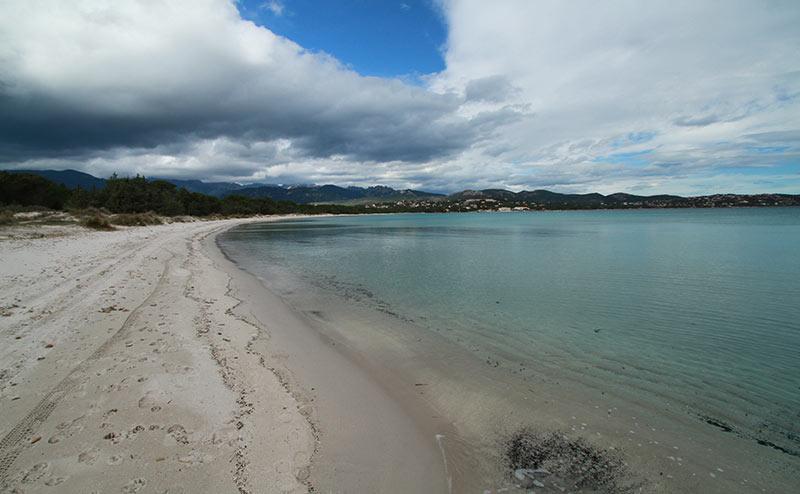 plage Pinarellu Corse en hiver