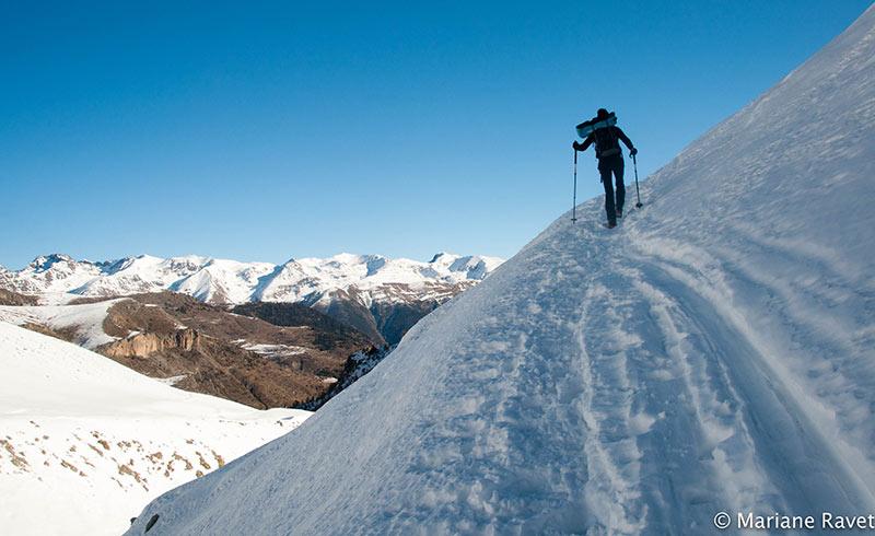 portage raquettes belvédère de l'Alp