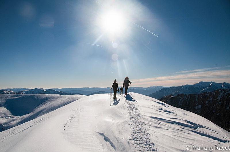 raquettes belvédère de l'Alp