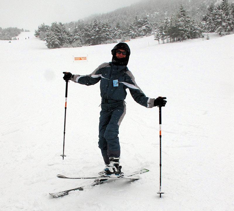 remonter sur des skis