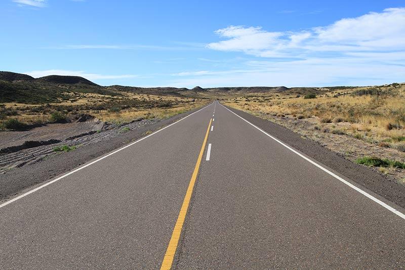 route Punta Tombo asphaltée