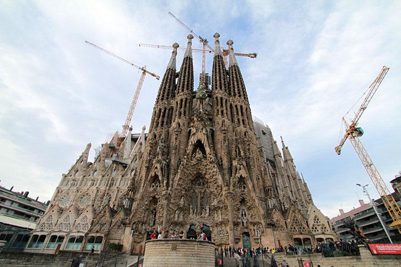 Sagrada Familia Barcelone extérieur