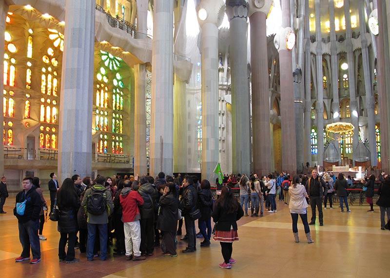 Sagrada Familia foule