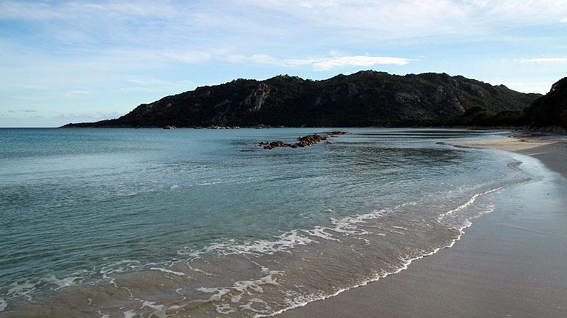 Santa Giulia plage de Corse en hiver