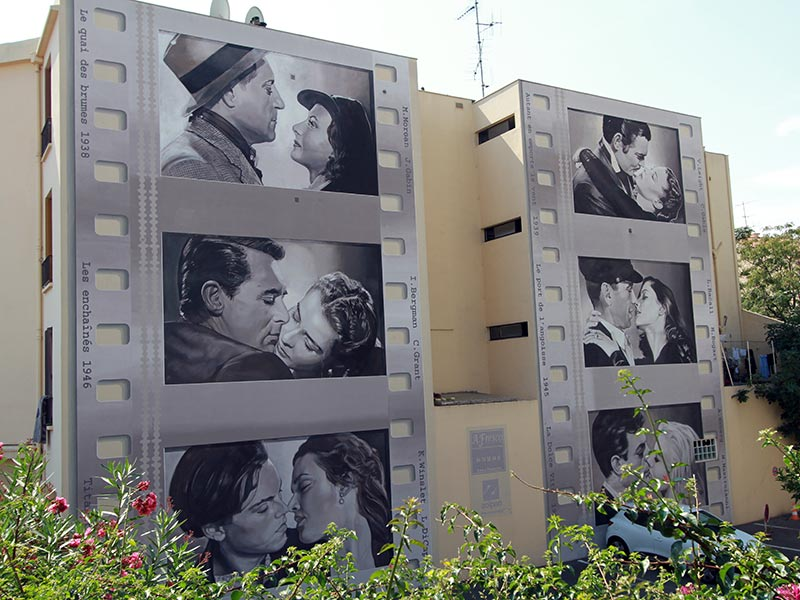 street art à Cannes : baisers sacrés