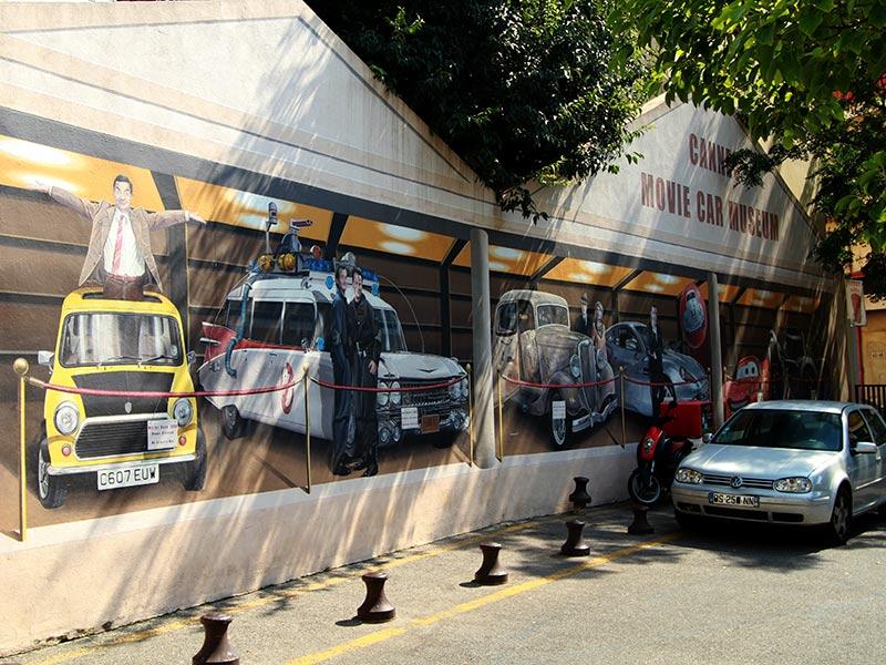 street art à Cannes les bolides