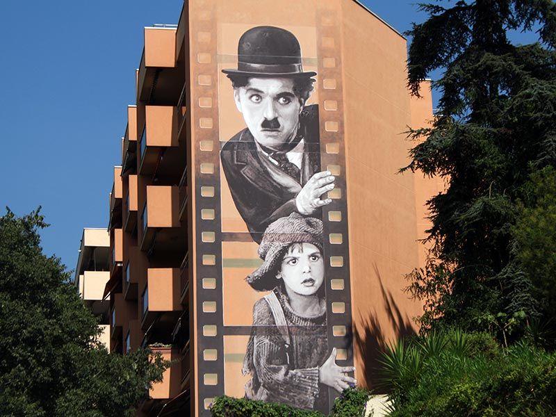 street art à Cannes : Charlie Chaplin