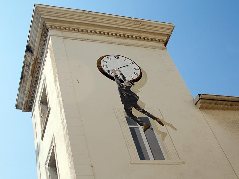 street art à Cannes : Harold Lloyd