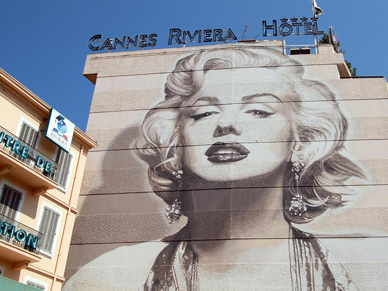street art à Cannes Marilyn Monroe