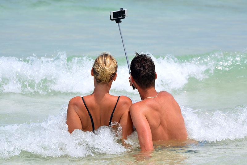 tendances de vacances selfies