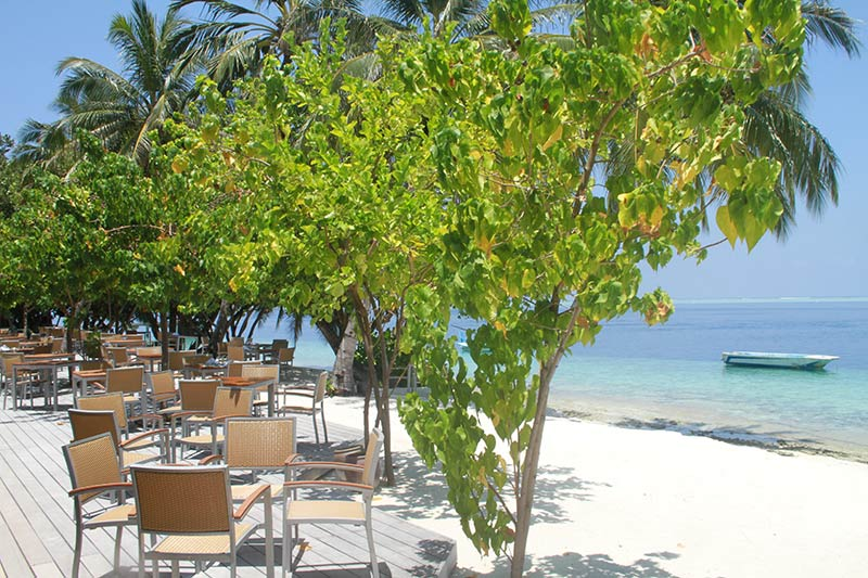 terrasse resto Vilamendhoo Island Resort