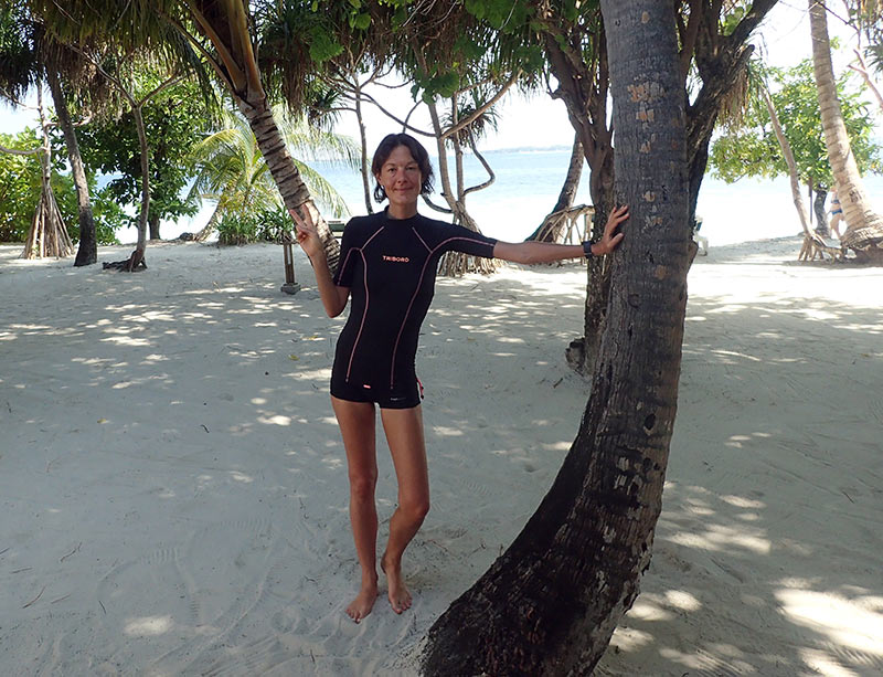 tee-shirt anti UV voyage aux maldives