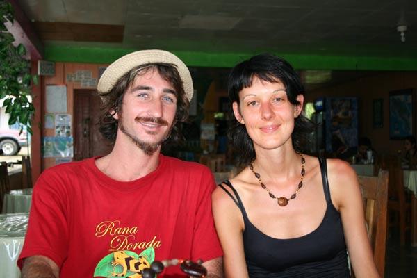 Avec un guide à Puerto Jimenez
