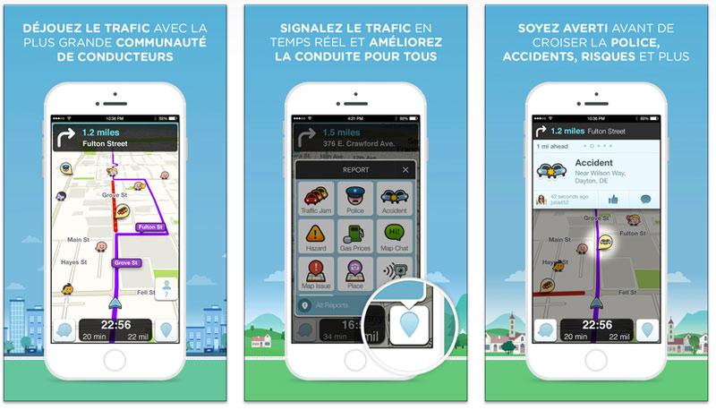 appli voyage GPS social
