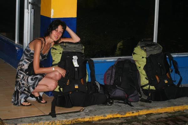 Attente du bus au Costa Rica