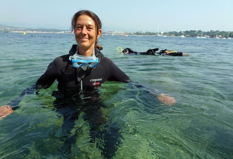 baptême de plongée avant le départ