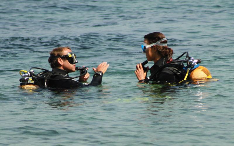 baptême de plongée briefing