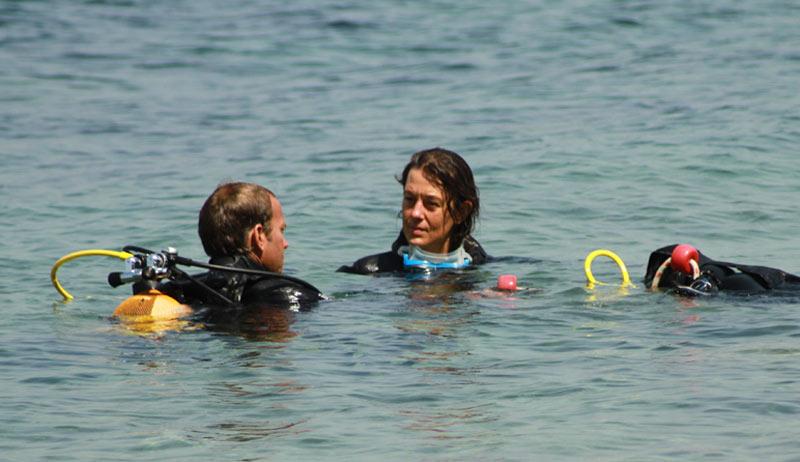 baptême de plongée côté plongée