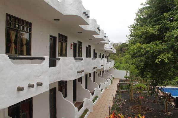 Bâtiment de l'hôtel Fiesta aux Galapagos