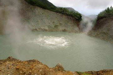 boiling lake La Dominique