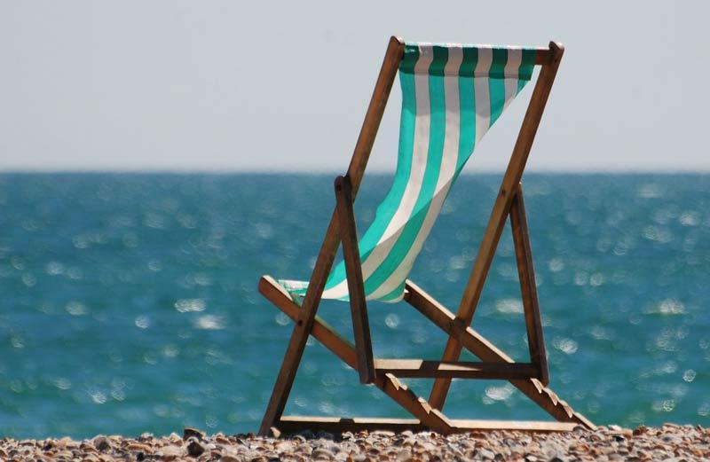 chaise longue en été