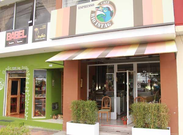 Cotacachi en Equateur, café