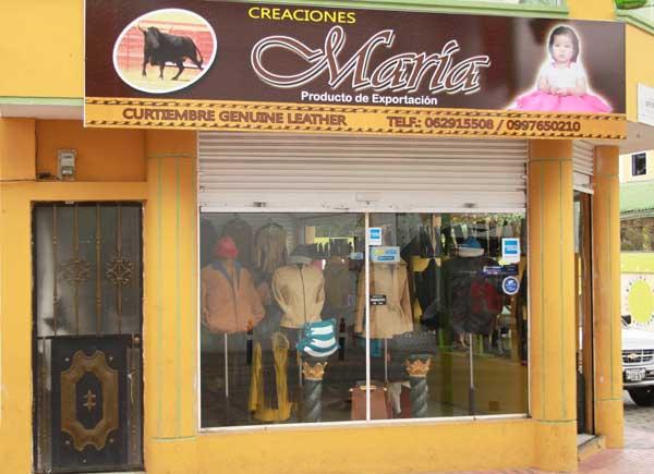 Cotacachi magasin spécialités cuir