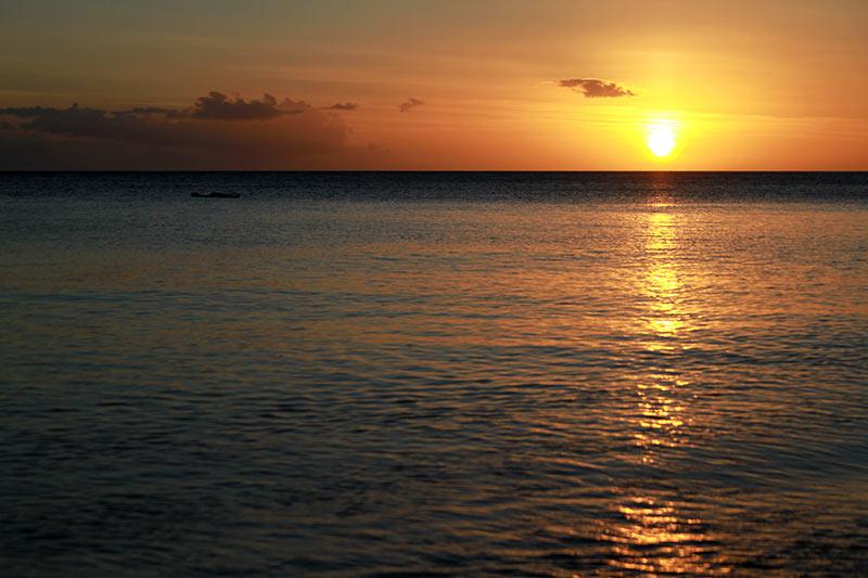 coucher de soleil Dominique