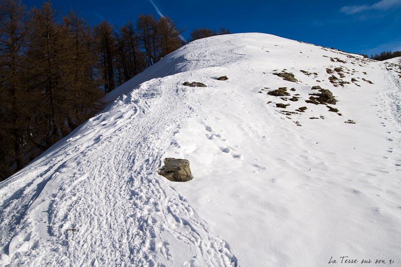 Crête circuit raquettes à neige Authion