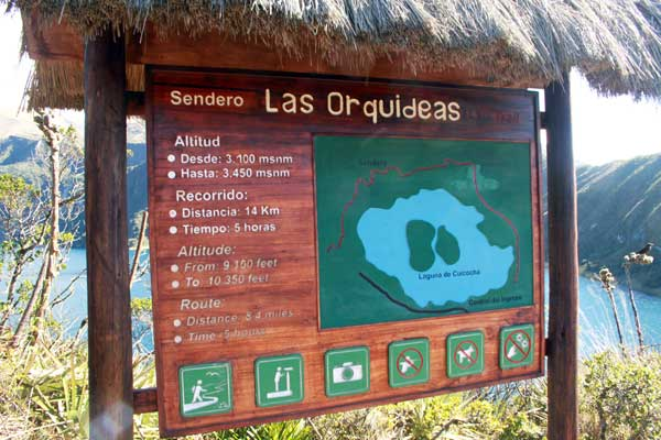 Départ pour la lagune de Cuicocha