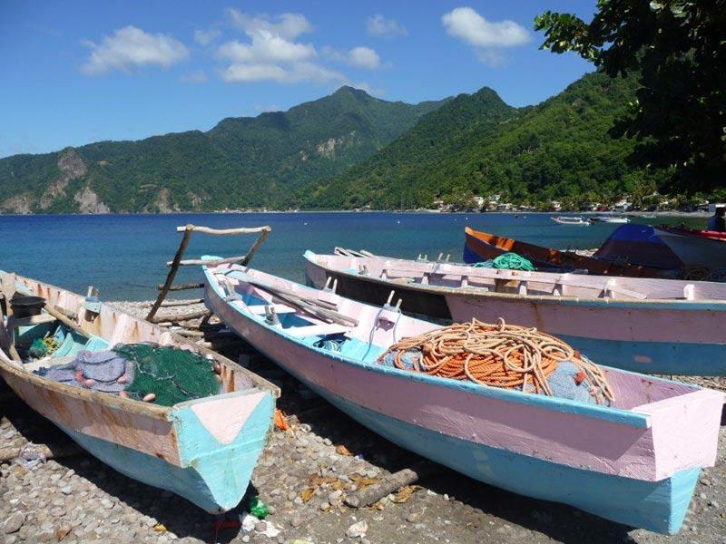 La Dominique village de pêcheurs