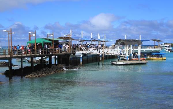 Embarcadère de Santa Cruz aux Galapagos
