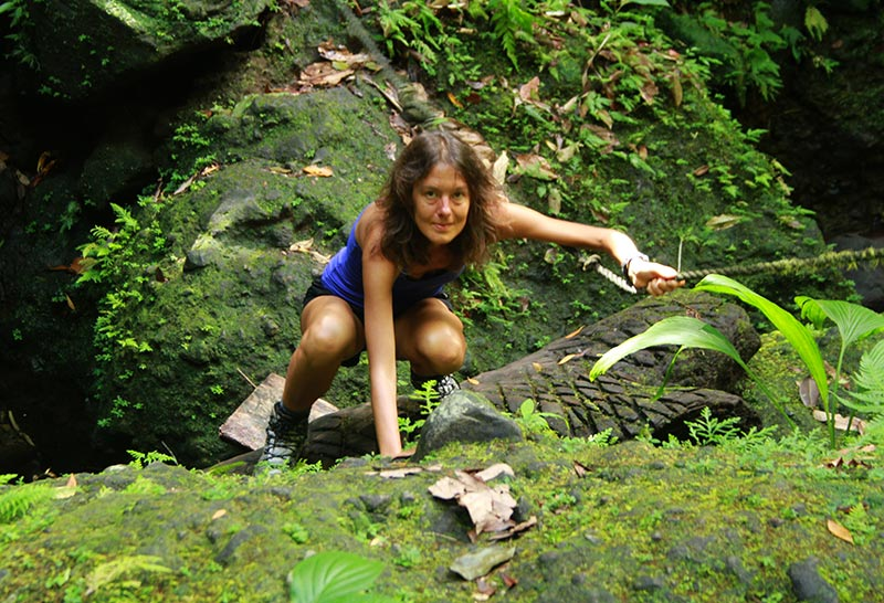 escalade seconde chute Spanny Falls Dominica