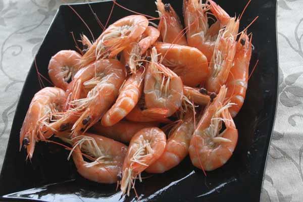 Assiette de crevettes à Lamma Island