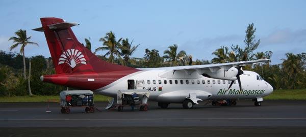 Atterrissage sur l'île Sainte-Marie