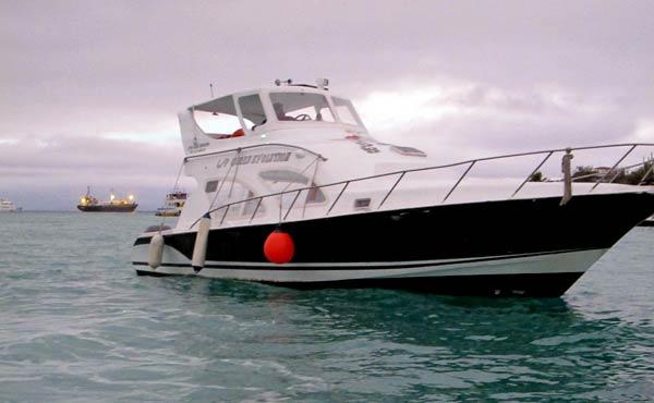 bateau port Santa Cruz aux Galapagos