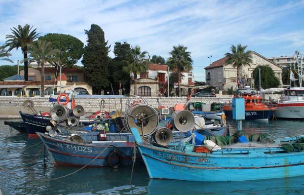 Bateaux de pêche au Cros-de-Cagnes