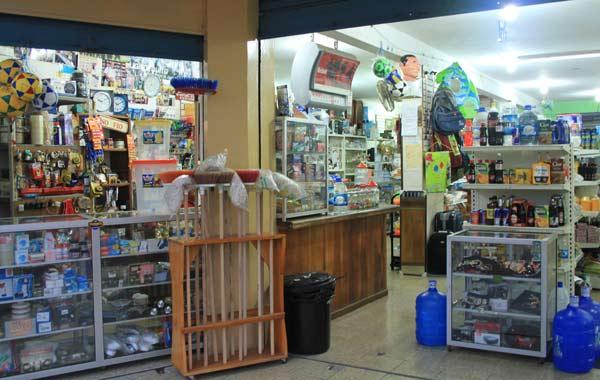Bazar commerces aux Galapagos