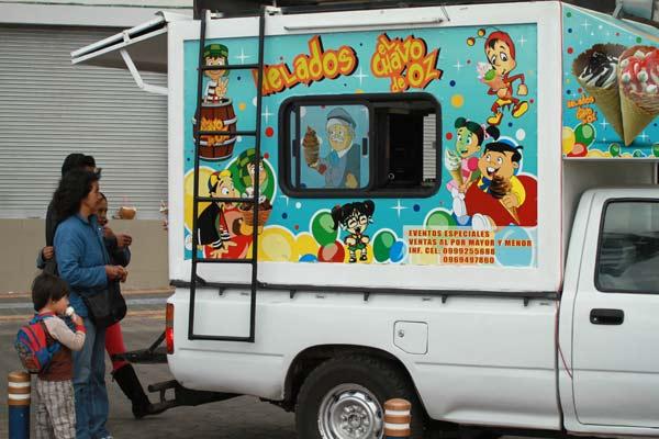 Camion de glaces aux Galapagos