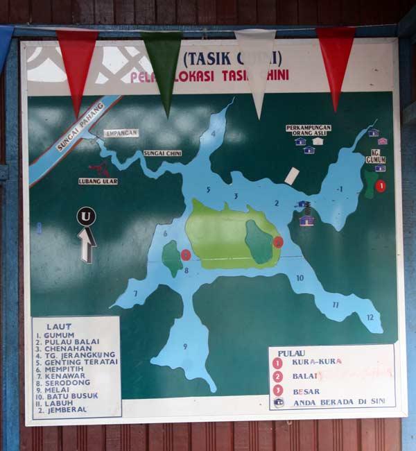 Carte du Lac Chini