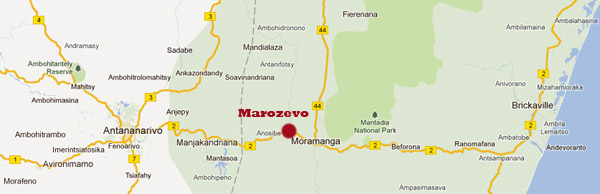 Carte pour aller à Peyrieras à Madagascar