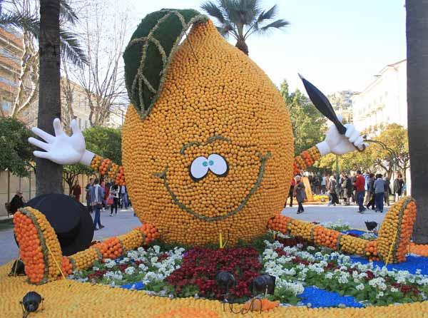 Citron géant à la fête du citron