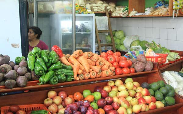 Commerce de fruits et légumes aux galapagos