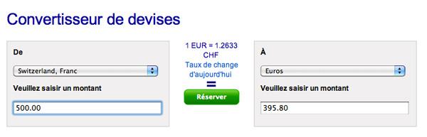 Convertir ses devises avec Travelex Suisse