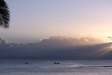 Coucher de soleil sur l'île aux Nattes