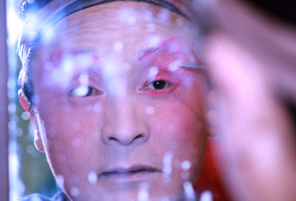 Coulisses de l'opéra du Sichuan
